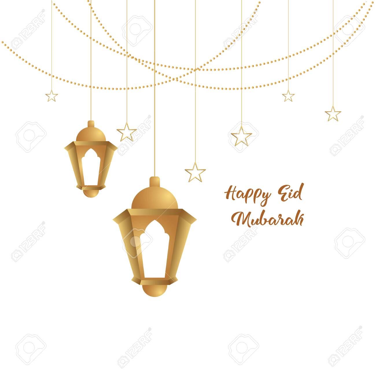 Ramadan Mubarak Background Happy Eid Mubarak Greeting Card Design Royalty Free Cliparts Vectors And Stock Illustration Image 137173678