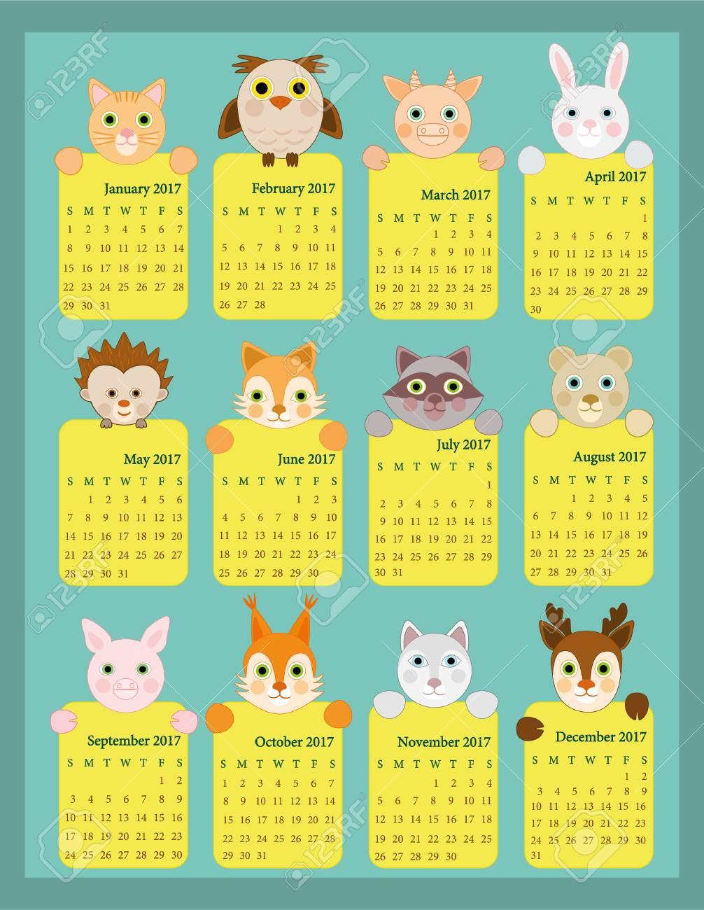 Calendario Para Kinder.Stock Photo