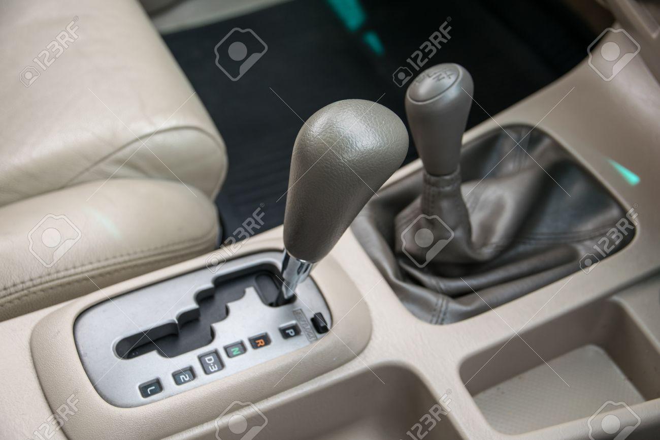 Car interior  Automatic transmission gear shift