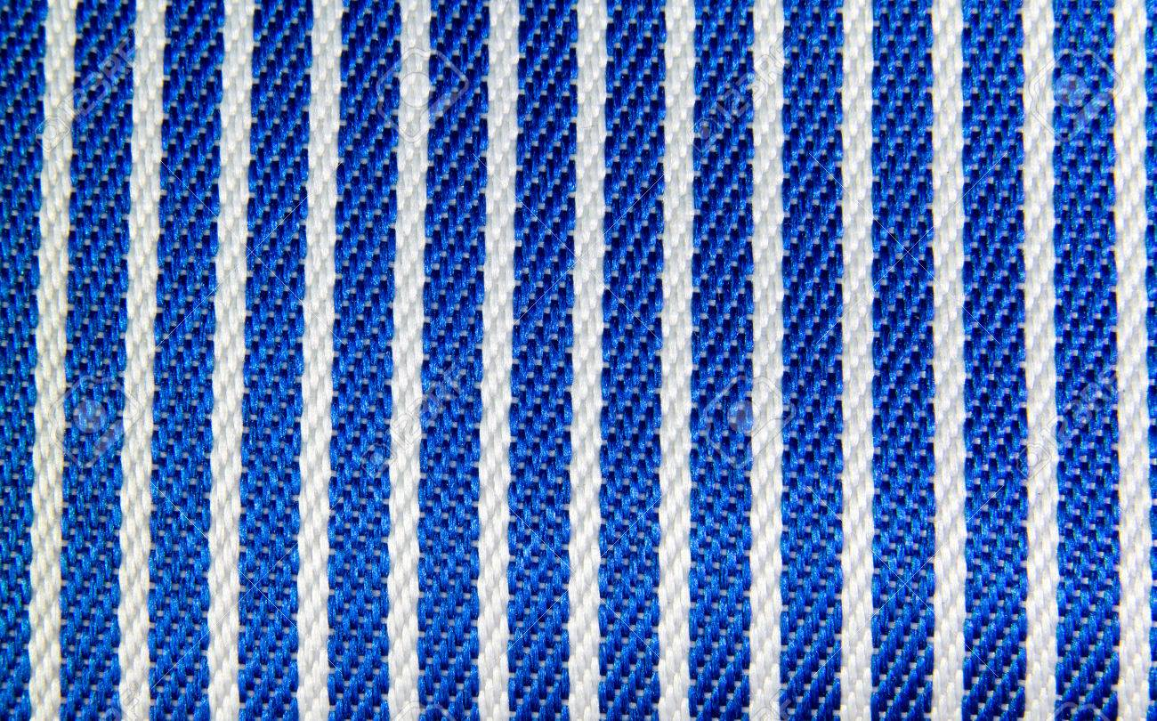 Blue And White Stripes Fabric Closeup , Tablecloth Texture Stock Photo    38695028