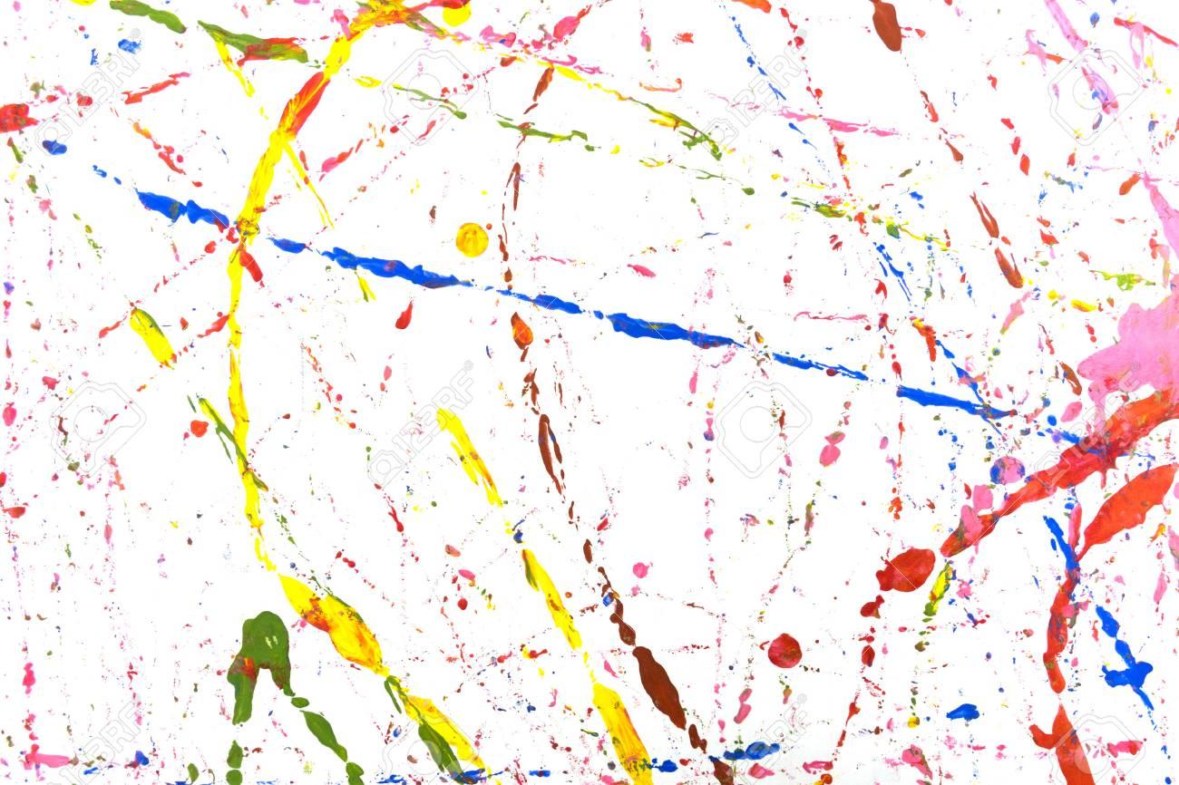 farbige farbe spritzen, isoliert auf weißem hintergrund lizenzfreie