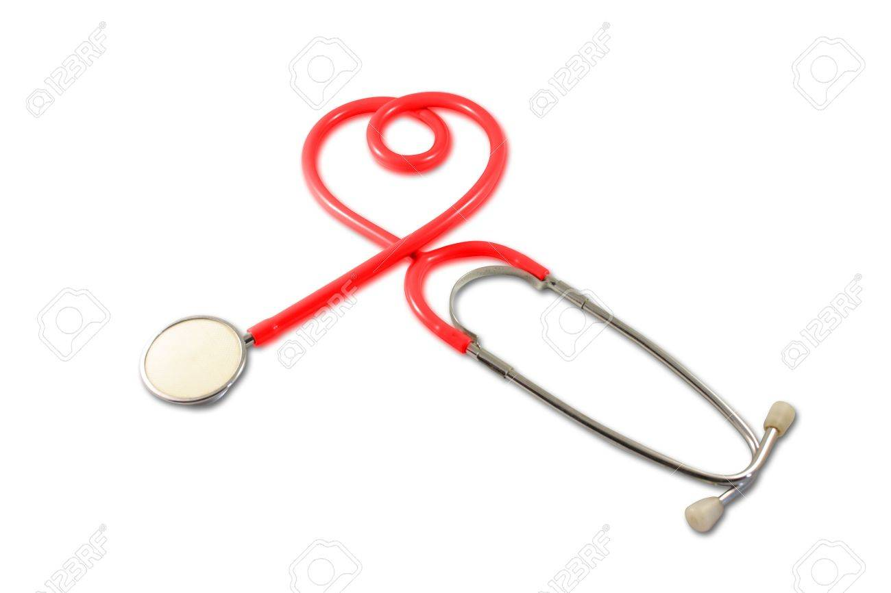 Stethoscope in Heart Shape Stock Photo - 7343717