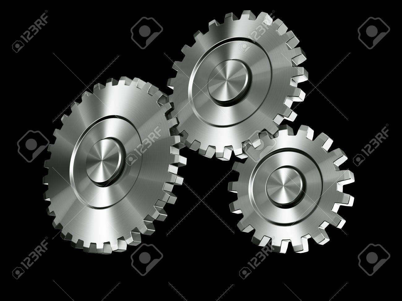 3d rendering of 3 gears Stock Photo - 3279383