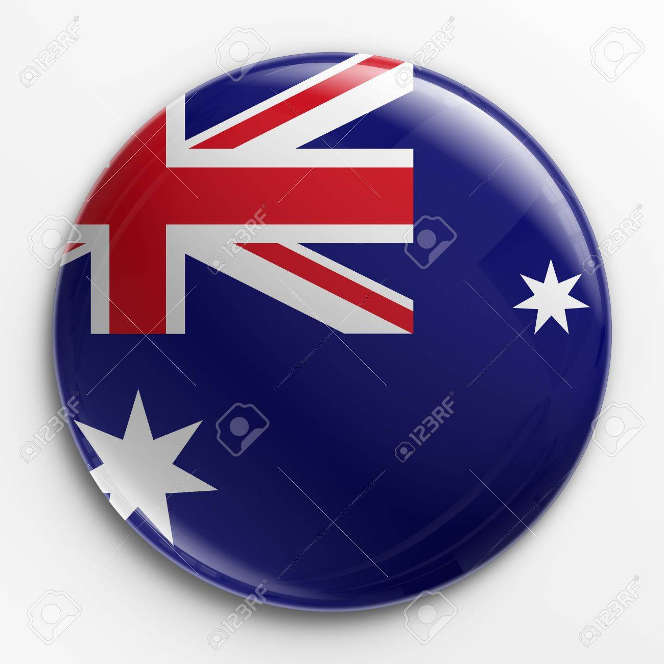 3d rendering of a badge with the Australian flag Stock Photo - 3279332
