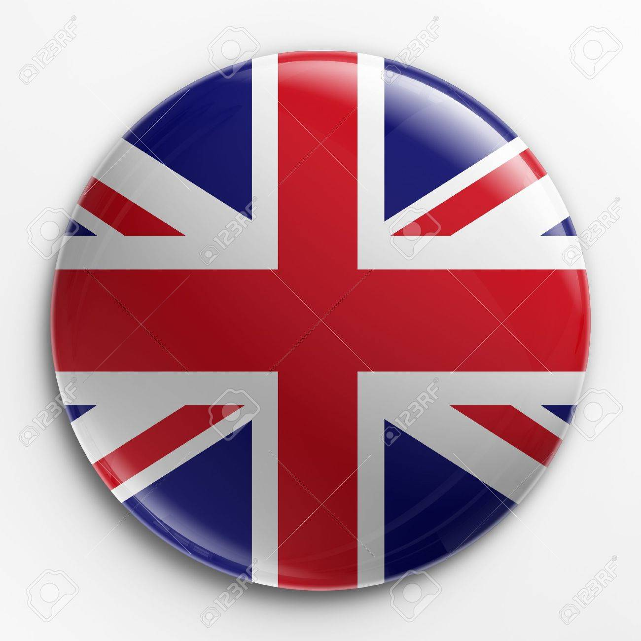 3d rendering of a badge with the Union Jack Stock Photo - 3279331