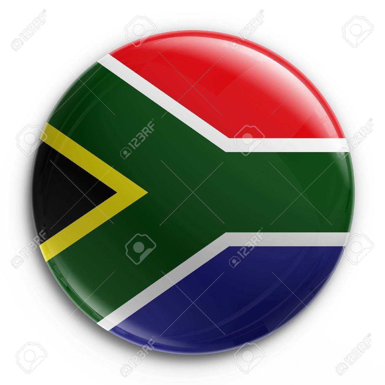3d rendering of a badge with the South African flag Stock Photo - 3279327