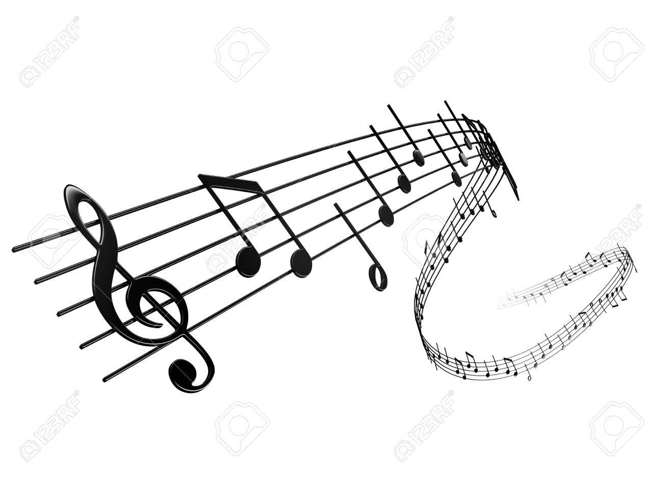 3d rendering of musical notes stock photo picture and royalty