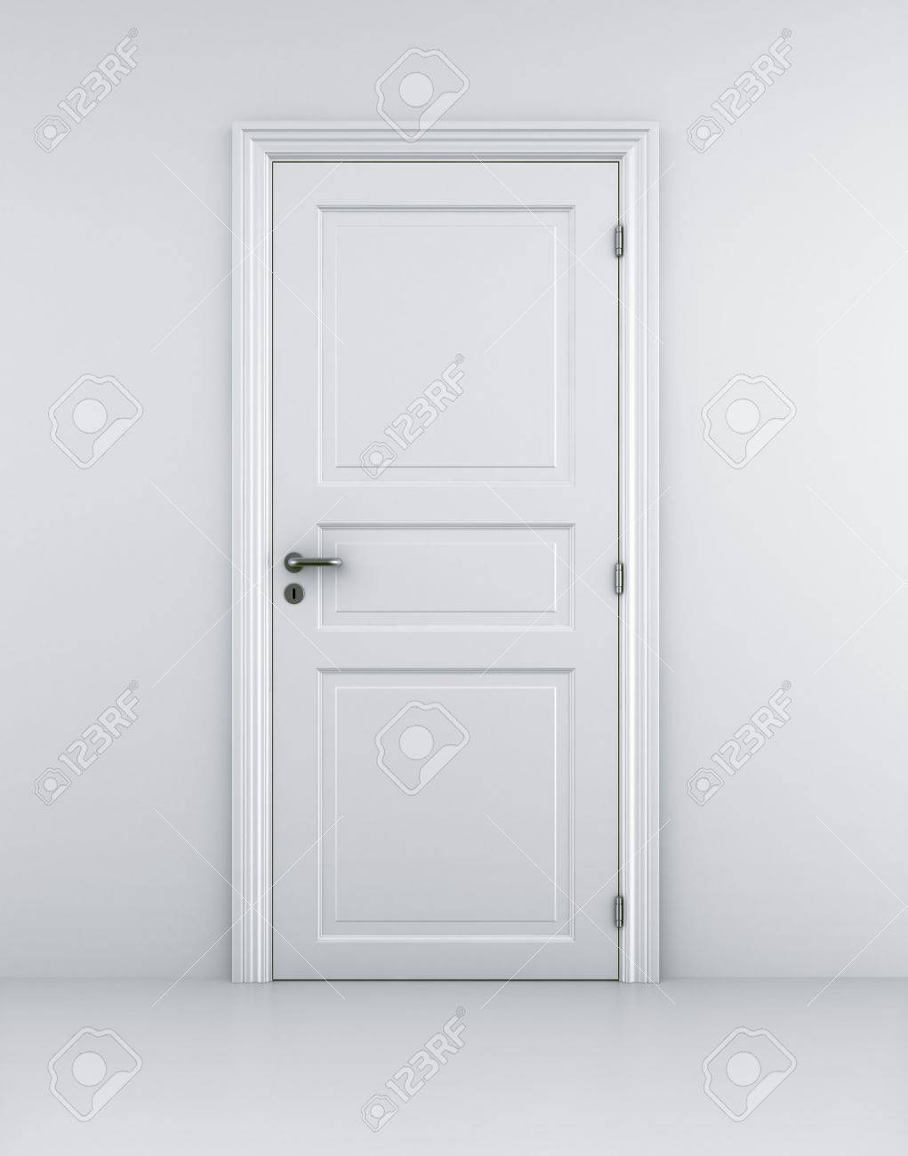 3d rendering of a door in a white room Stock Photo - 4259515