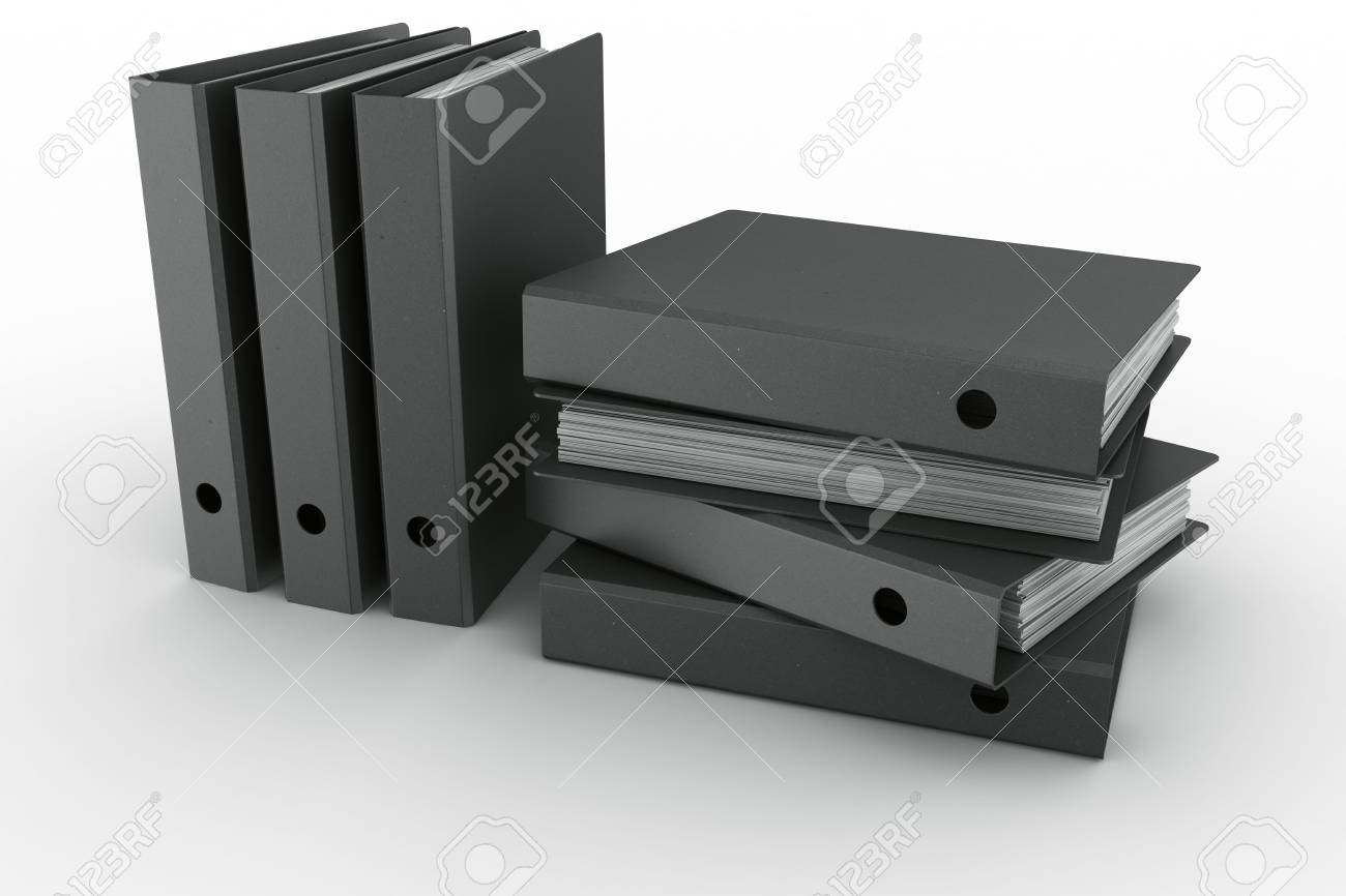 3d rendering of ring binders in a modern fiber material Stock Photo - 5061121