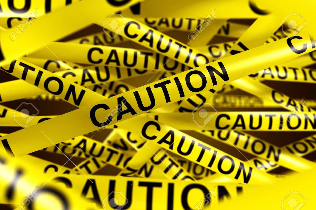 3d rendering of CAUTION tape. Stock Photo - 5257264
