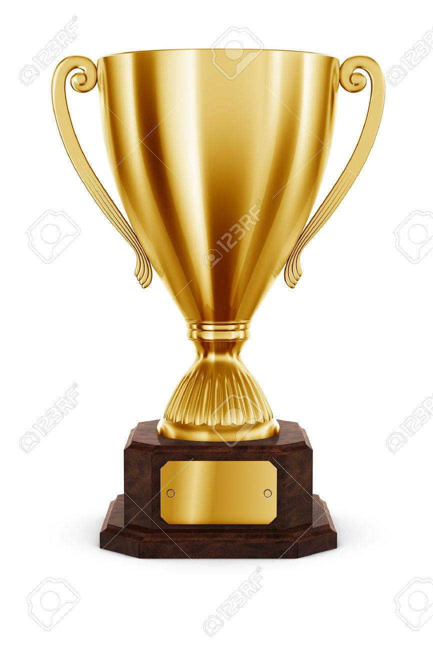 3d rendering of classic trophy in gold Stock Photo - 5257156