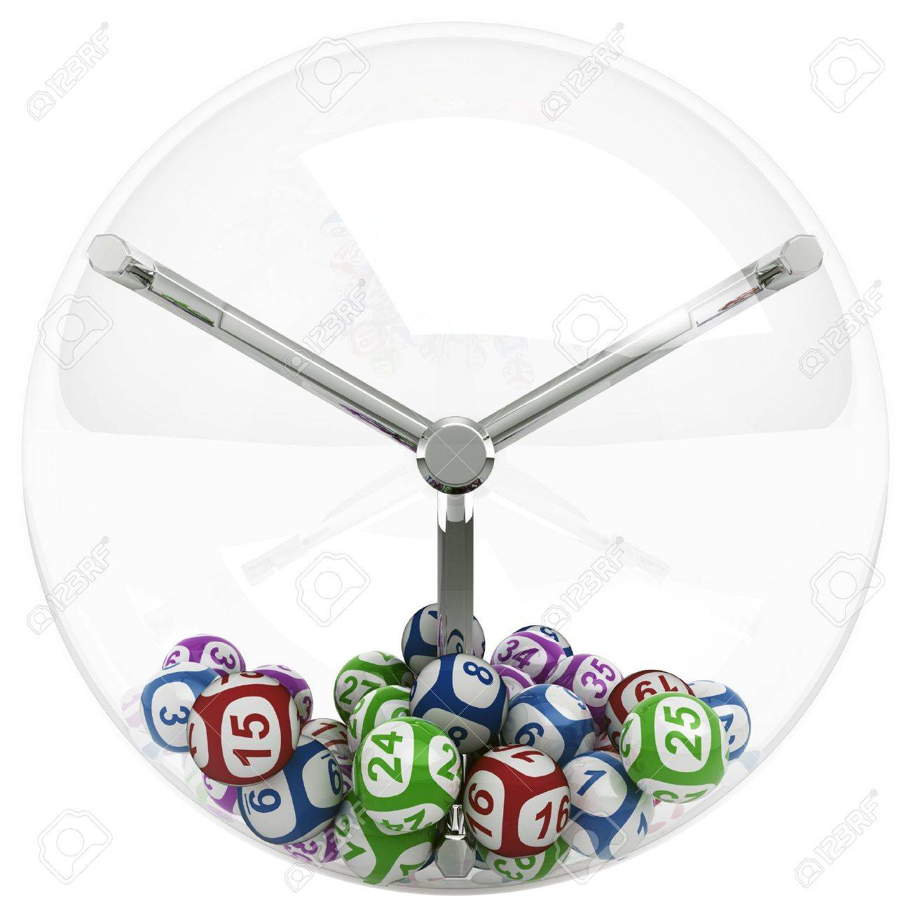 3d rendering of lottery machine with balls Stock Photo - 5462684