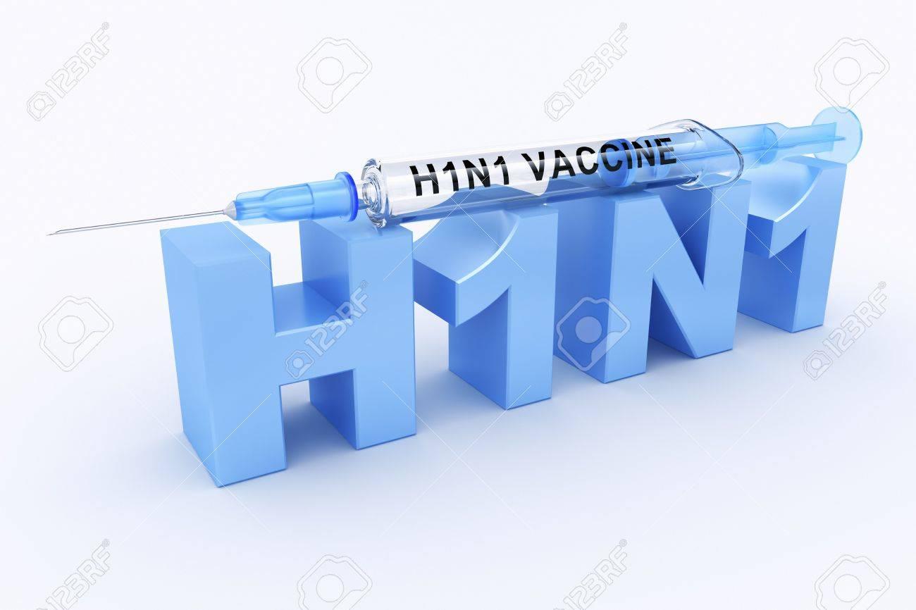 3d rendering of a h1n1 logo  H1n1 Logo