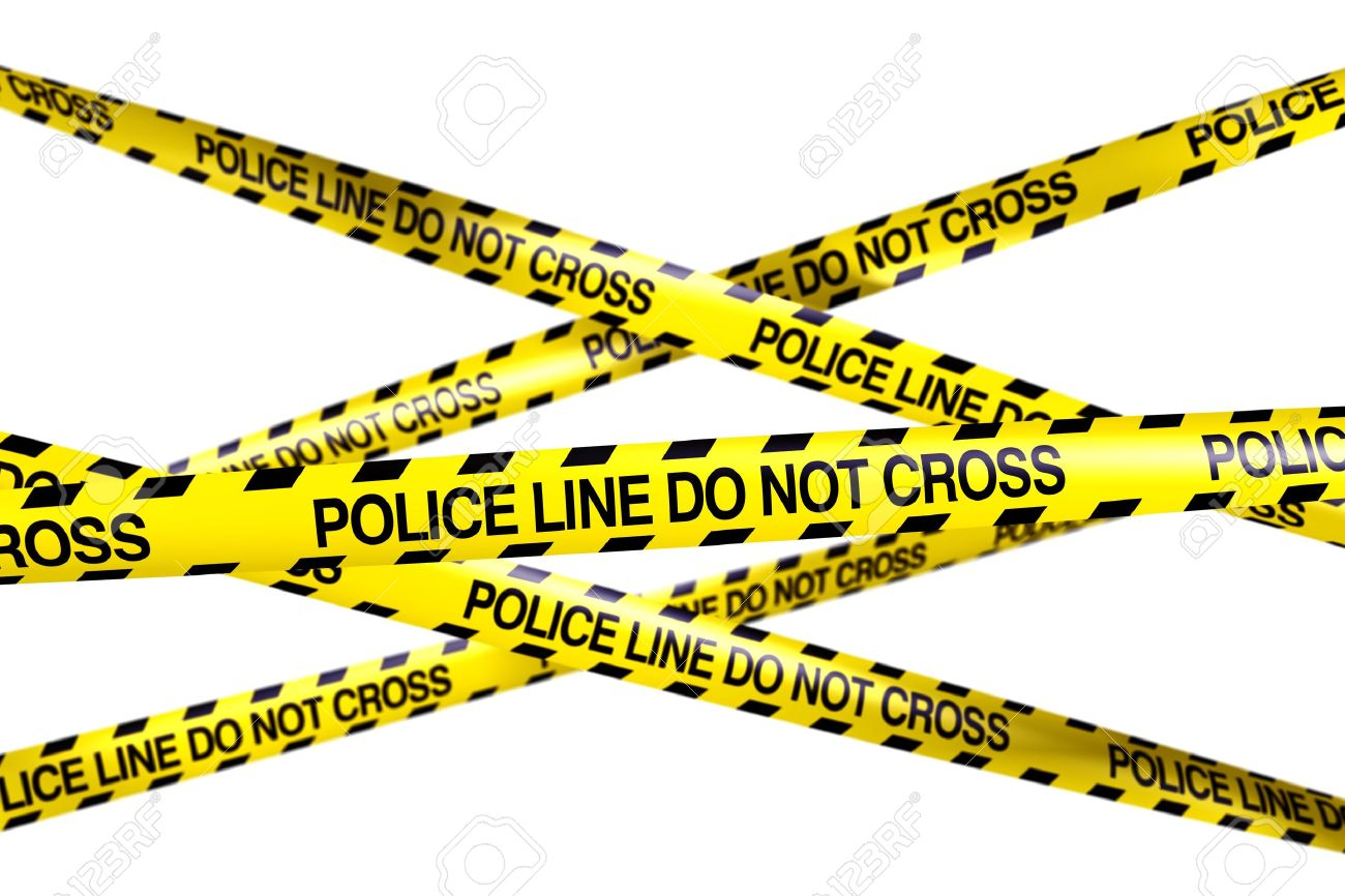 3d rendering of caution tape with policeline do not cross written