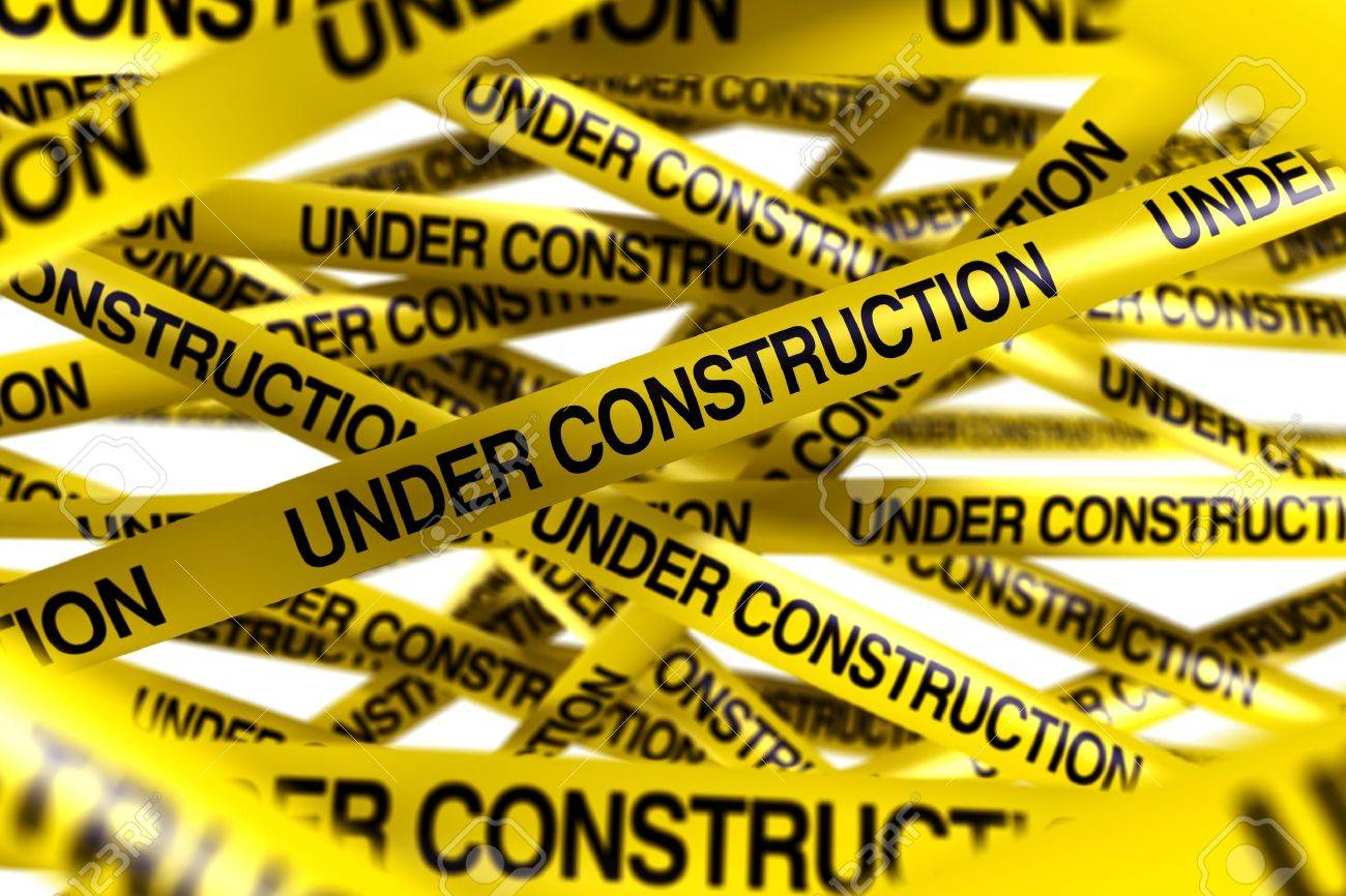 3d rendering of caution tape with UNDER CONSTRUCTION written on it Stock Photo - 6186536