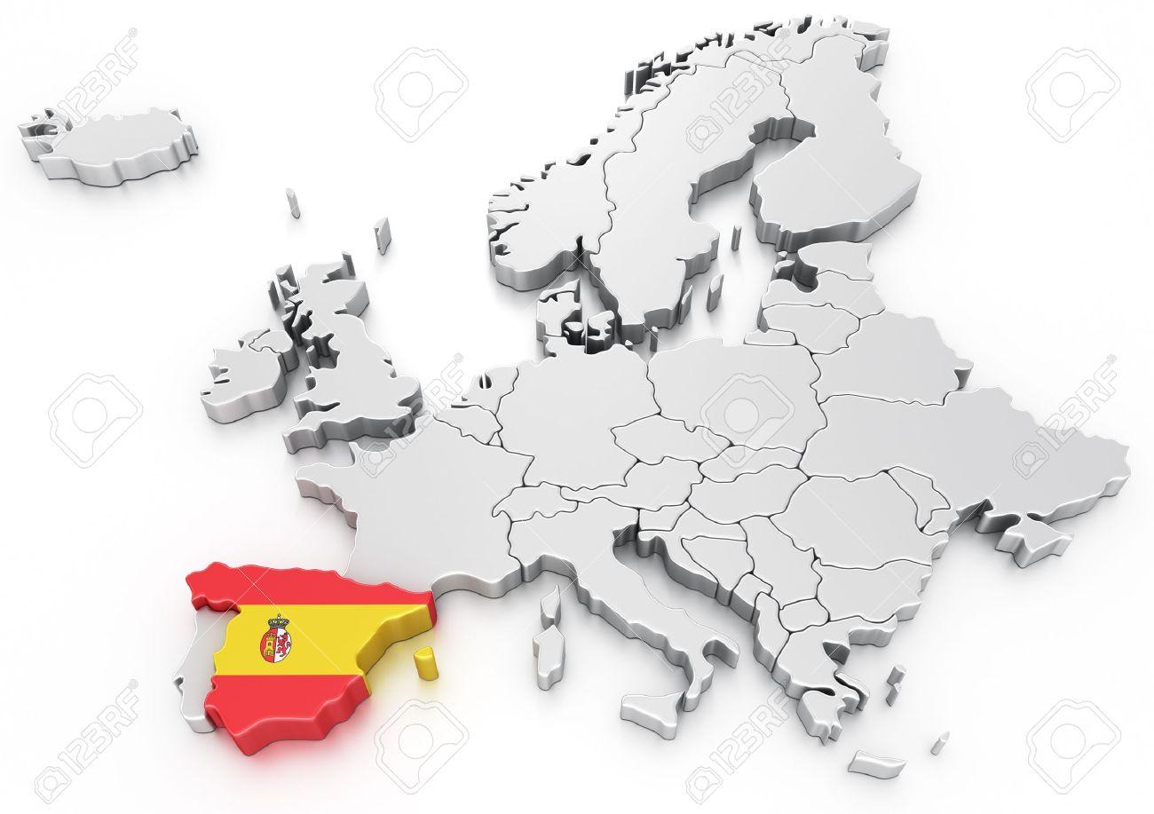 carte europe espagne