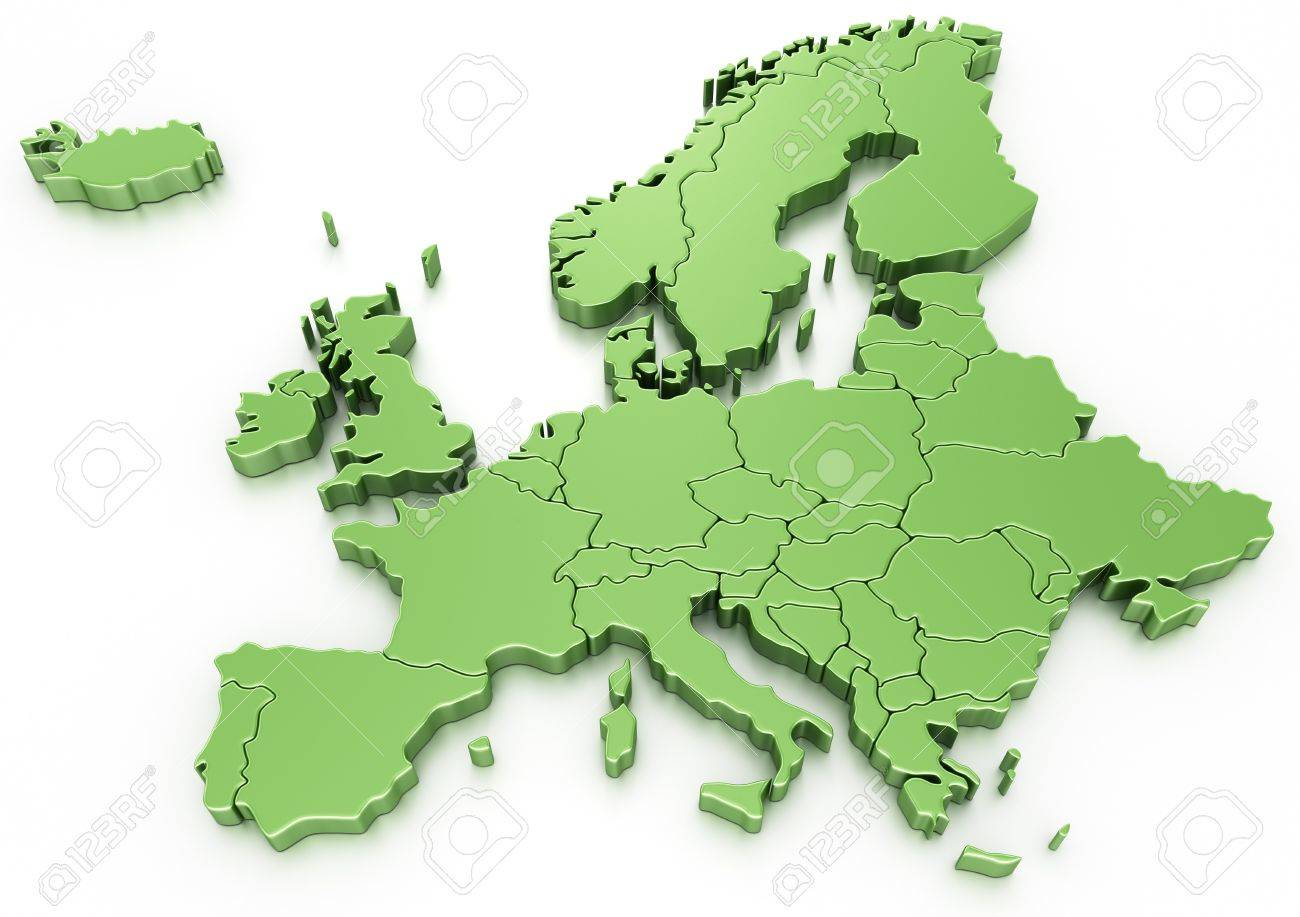 3d rendering of a map of Europe Stock Photo - 7250824