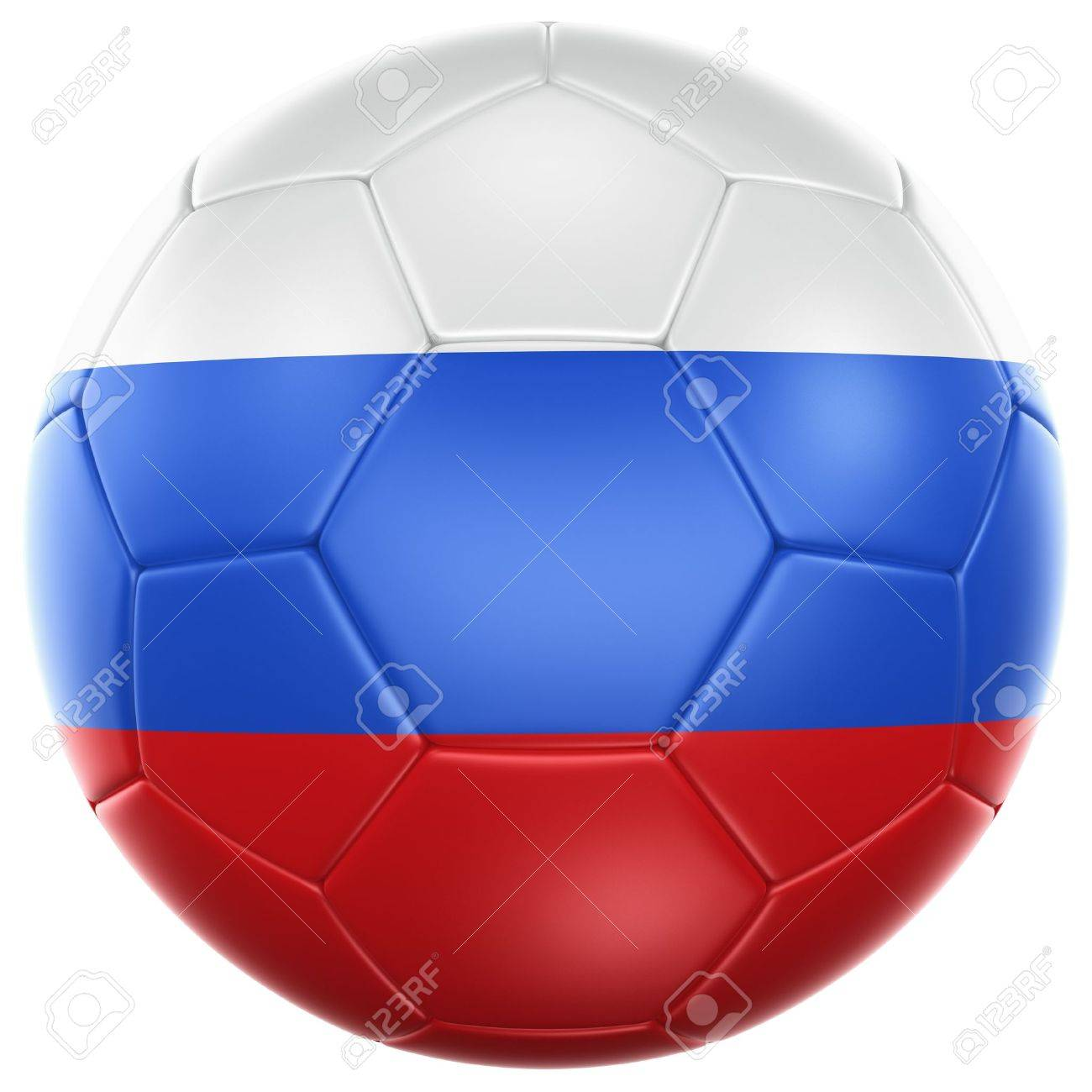 3d rendering of a Russian soccer ball isolated on a white background Stock  Photo - 12905006 769a3d1ddda9