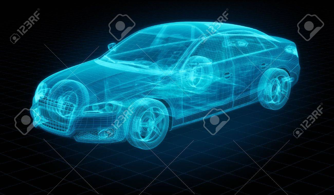 Design my car - 3d Rendering Of A Brandless Generic Car Of My Own Design Stock Photo 12905163
