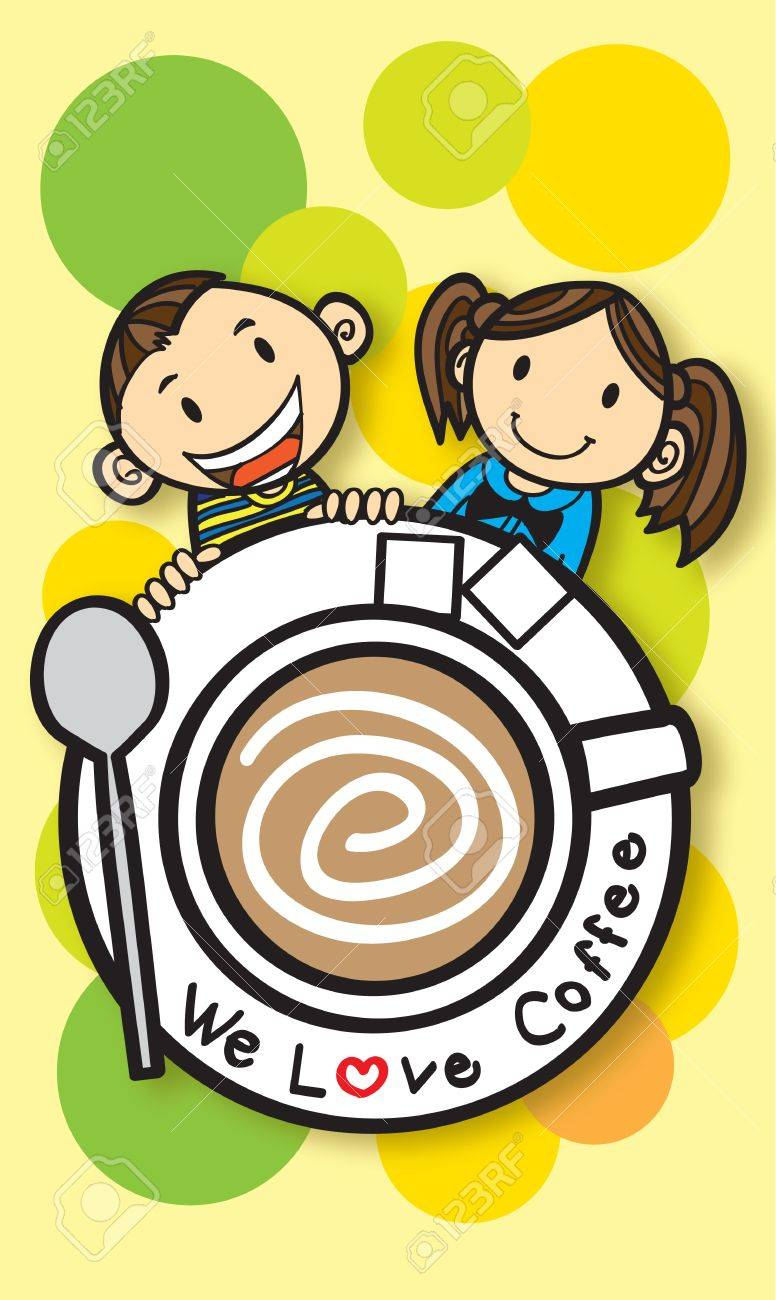 boy and girl with coffee Stock Vector - 15010965