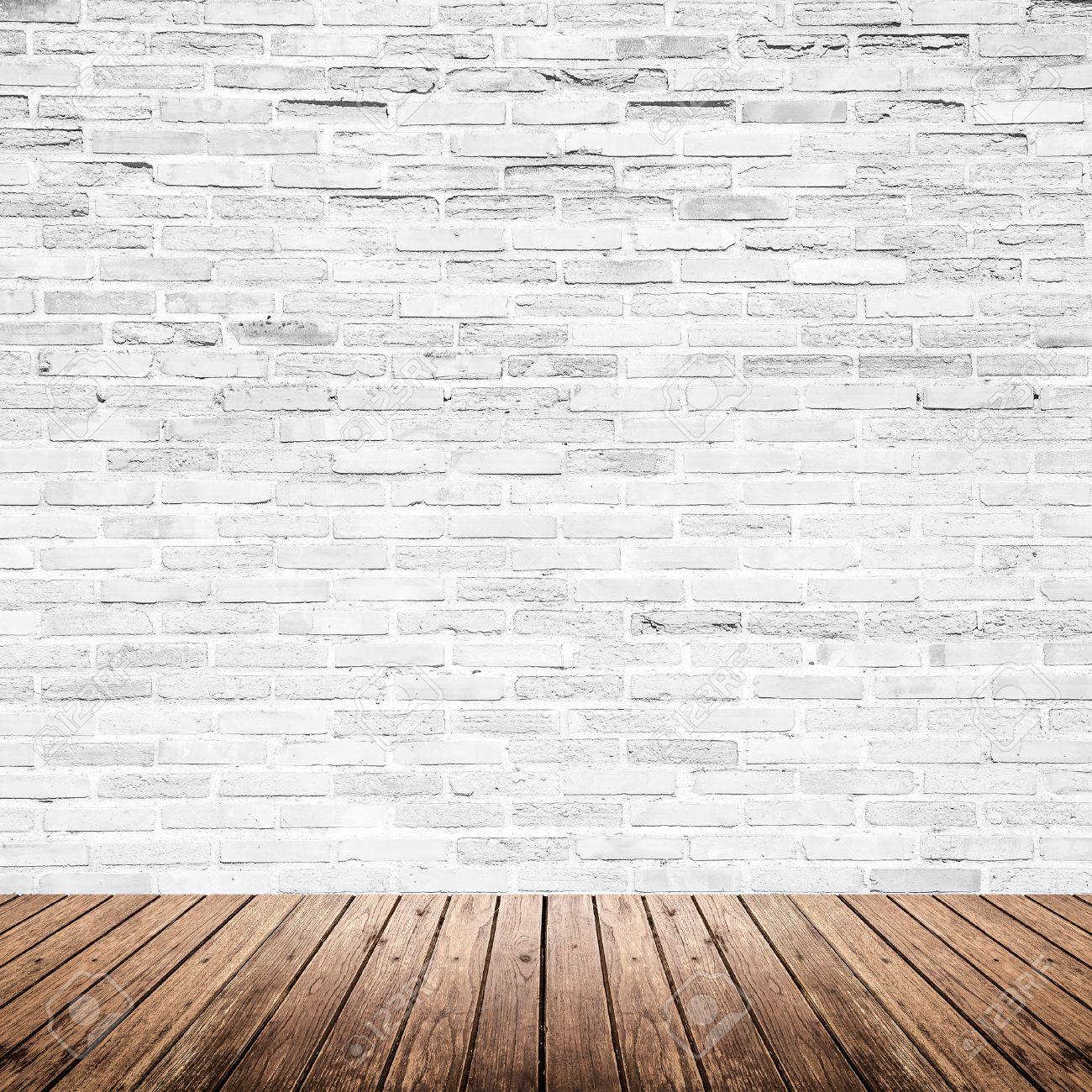 Merveilleux Banque Du0027images   Old Room Intérieur Avec Mur De Briques Blanc Cassé Et  Grunge Plancher De Bois Texture