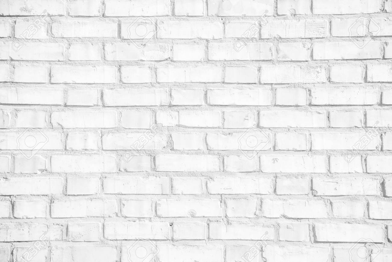 Abstract weathered white grunge brick wall texture or old surface pattern for vintage interior room background and backdrop, architectural element in urban concept - 70841226