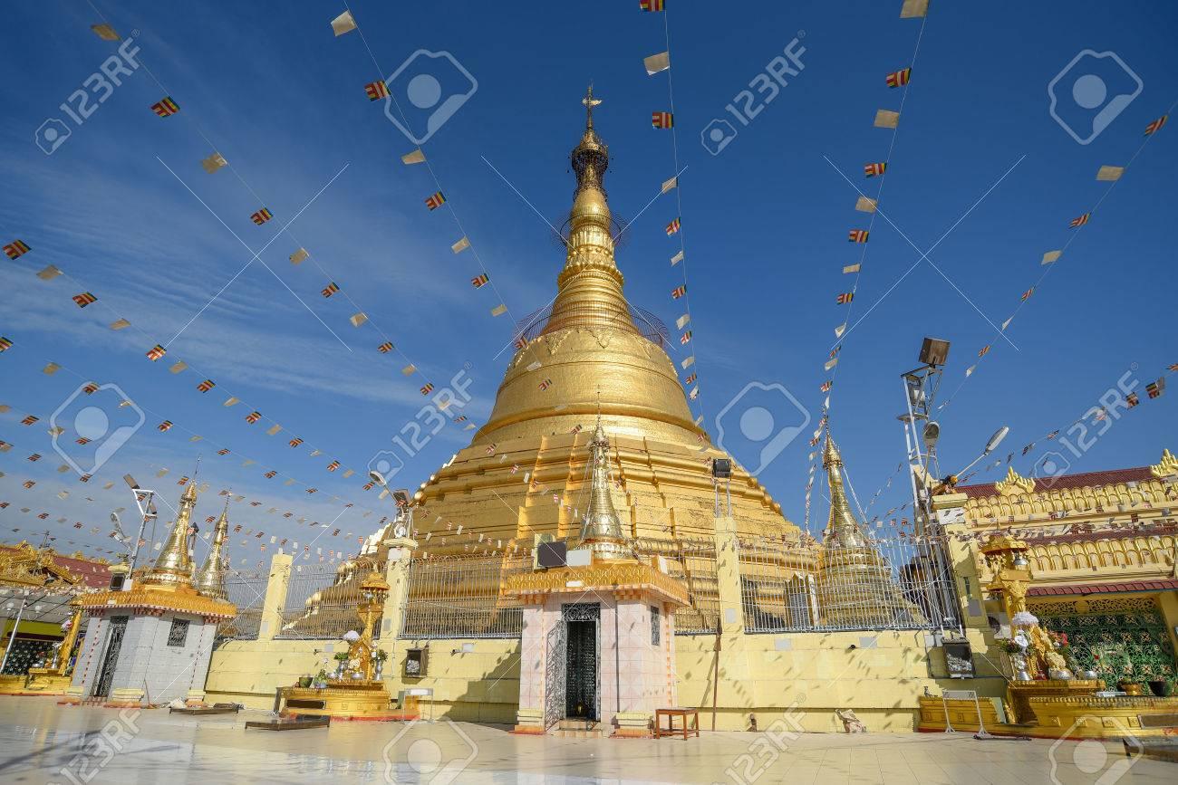 Botataung Pagoda, one of famous golden pagoda near Nat Bo Bo Gyi (the name of guardian spirit) in Yangon, Myanmar - 81922582