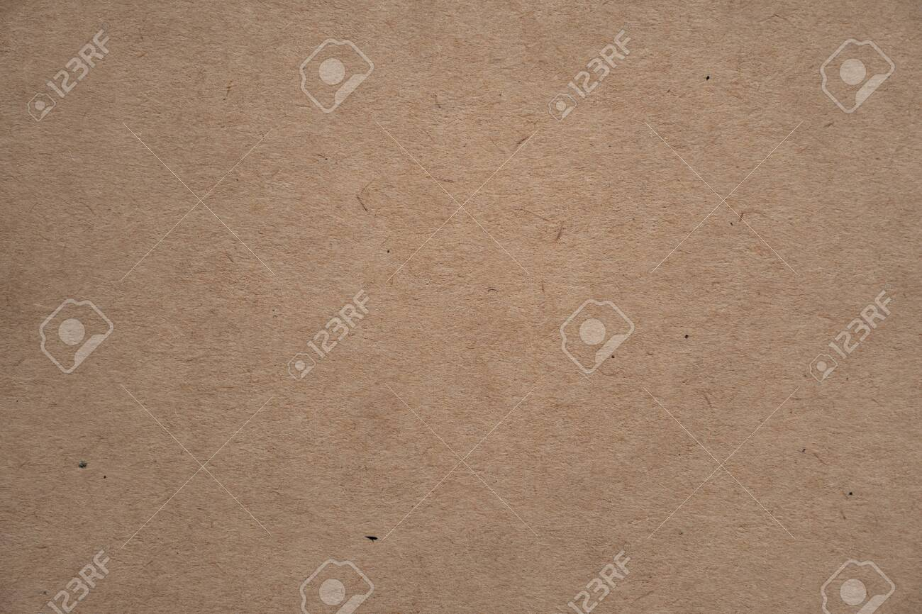 Abstract brown recycled paper texture background or backdrop. Empty old cardboard or recycling paperboard for design element. Simple beige grainy surface for journal template presentation. - 139827757