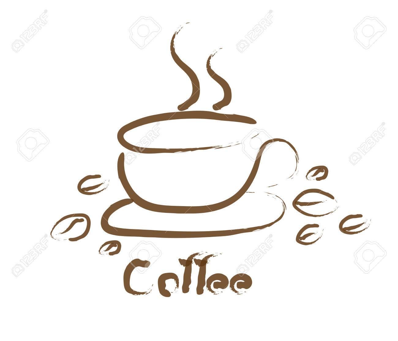 Diseño De La Taza De Café Mediante El Uso De Unas Pinceladas