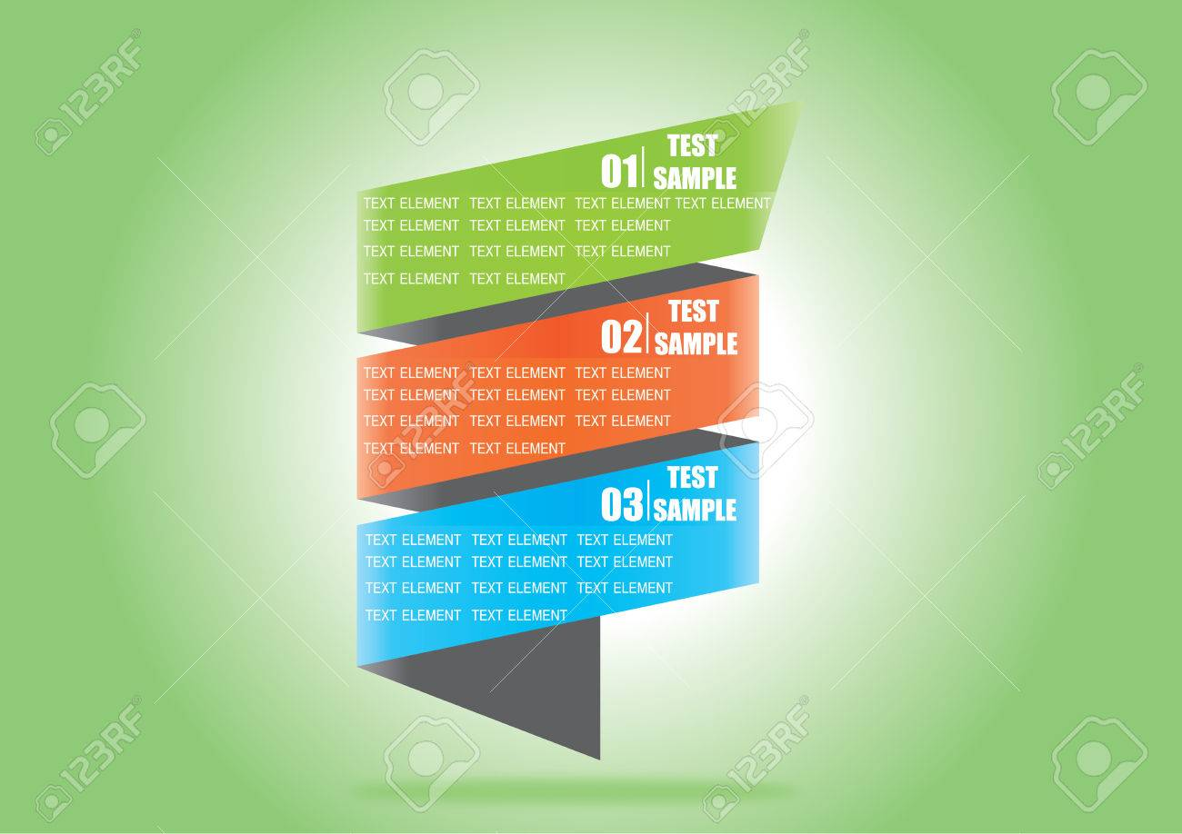Numbered Banner Design Template With Modern Business Style For Info Graphic Website Advertisement