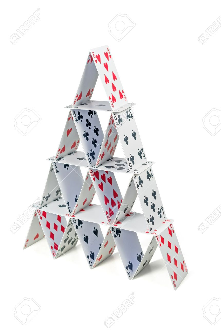 Карточный домик своими руками