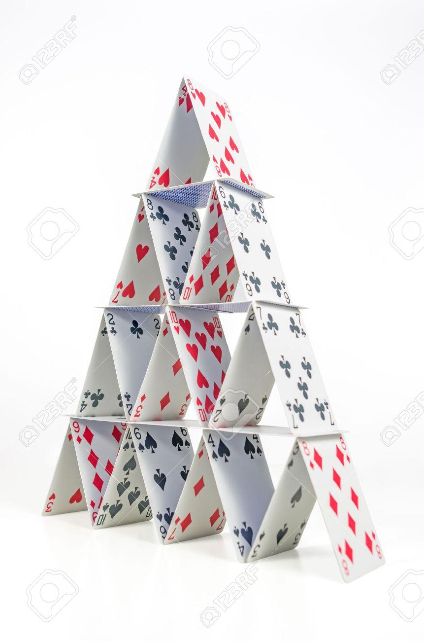 Как сделать башню из карт своими руками схемы