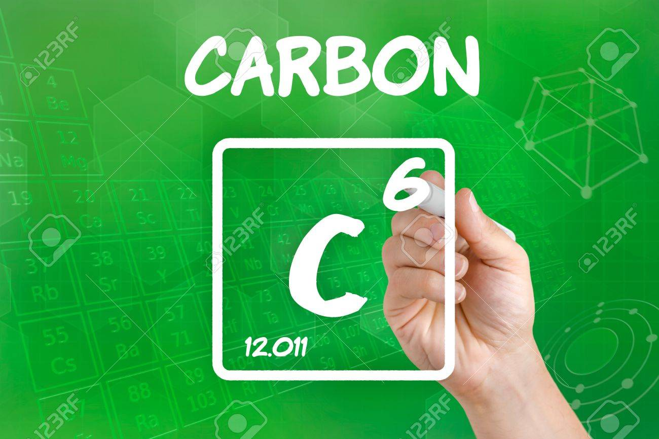 Symbol For The Chemical Element Carbon Stock Photo Picture And
