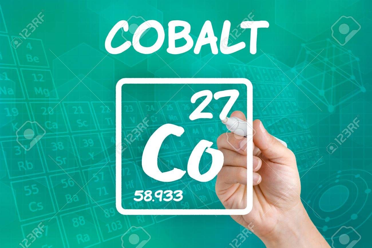 Symbol For The Chemical Element Cobalt Stock Photo Picture And