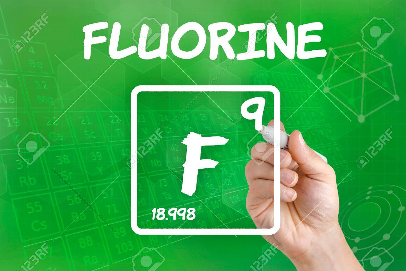 Symbol For The Chemical Element Fluorine Stock Photo Picture And