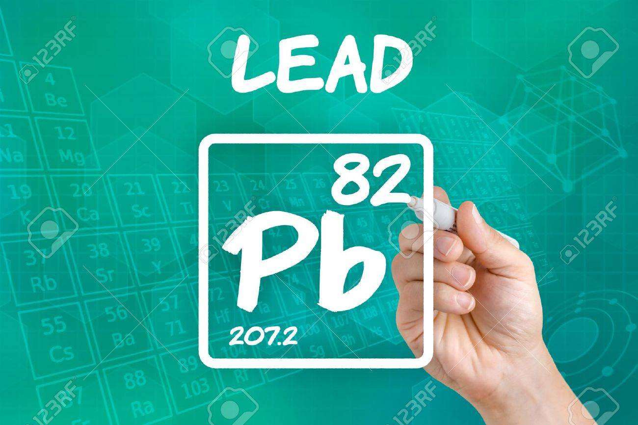 Symbol For The Chemical Element Lead Stock Photo, Picture And ...