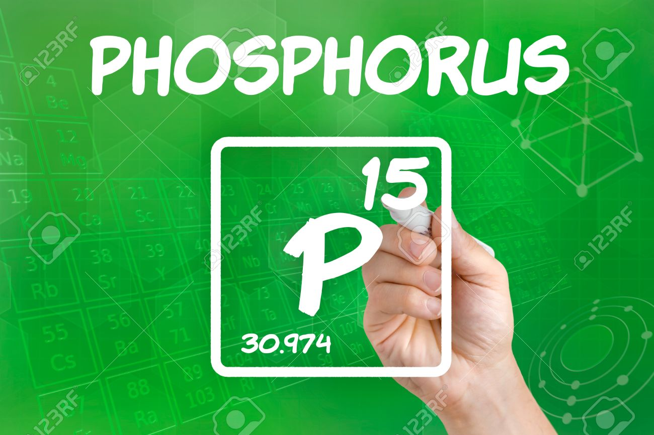 Symbol For The Chemical Element Phosphorus Stock Photo Picture And