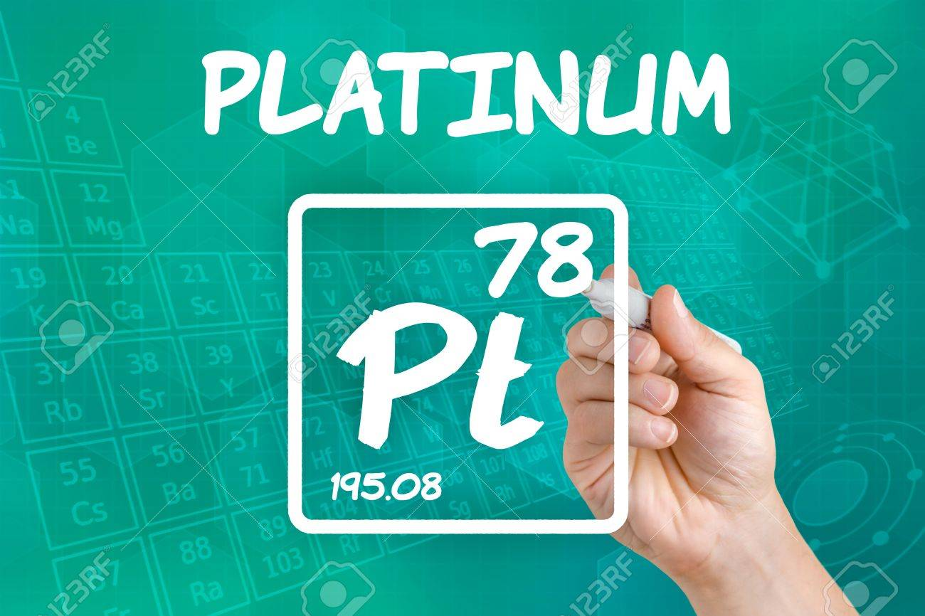 Symbol For The Chemical Element Platinum Stock Photo Picture And