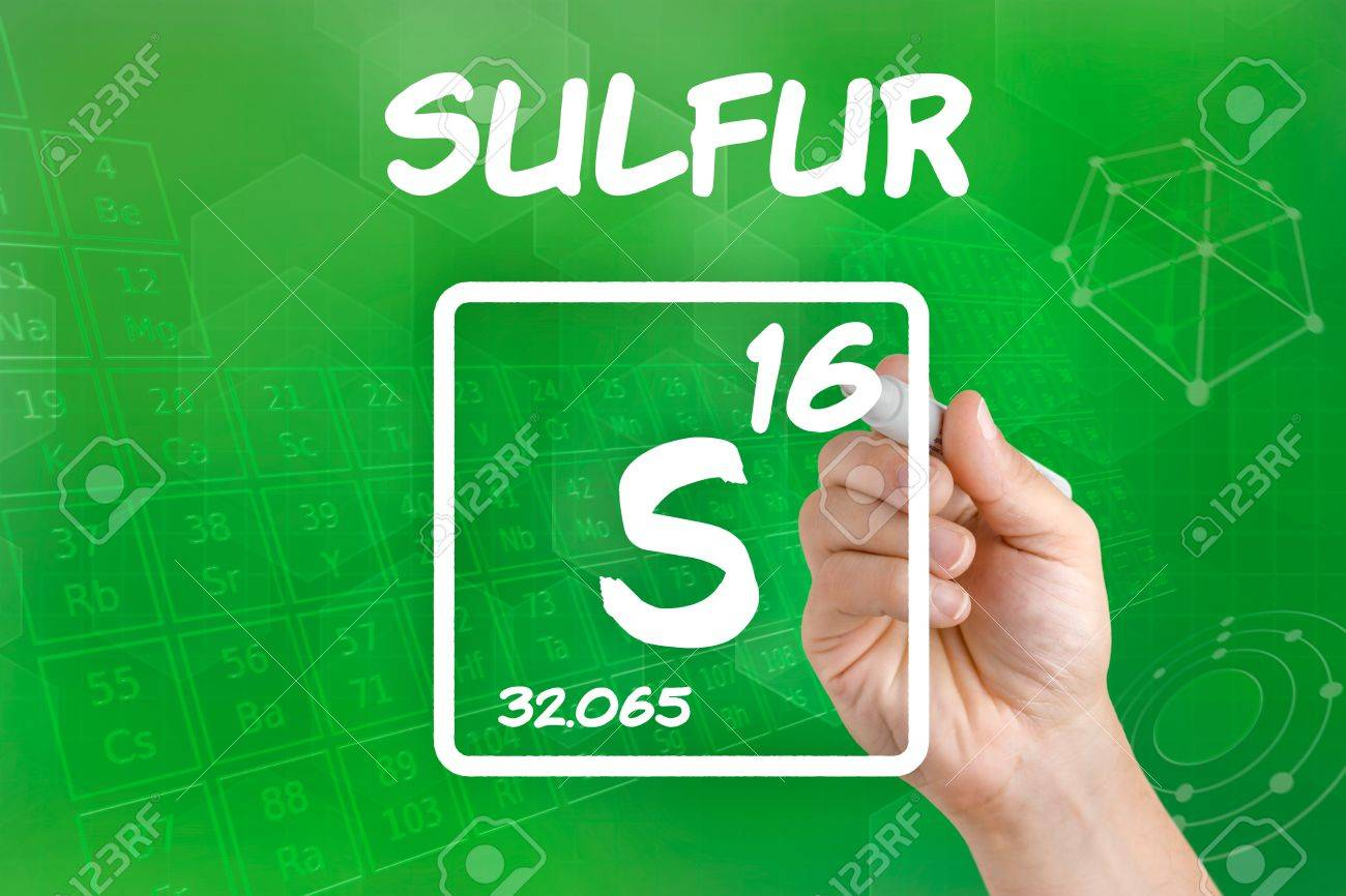 Symbol For The Chemical Element Sulfur Stock Photo Picture And