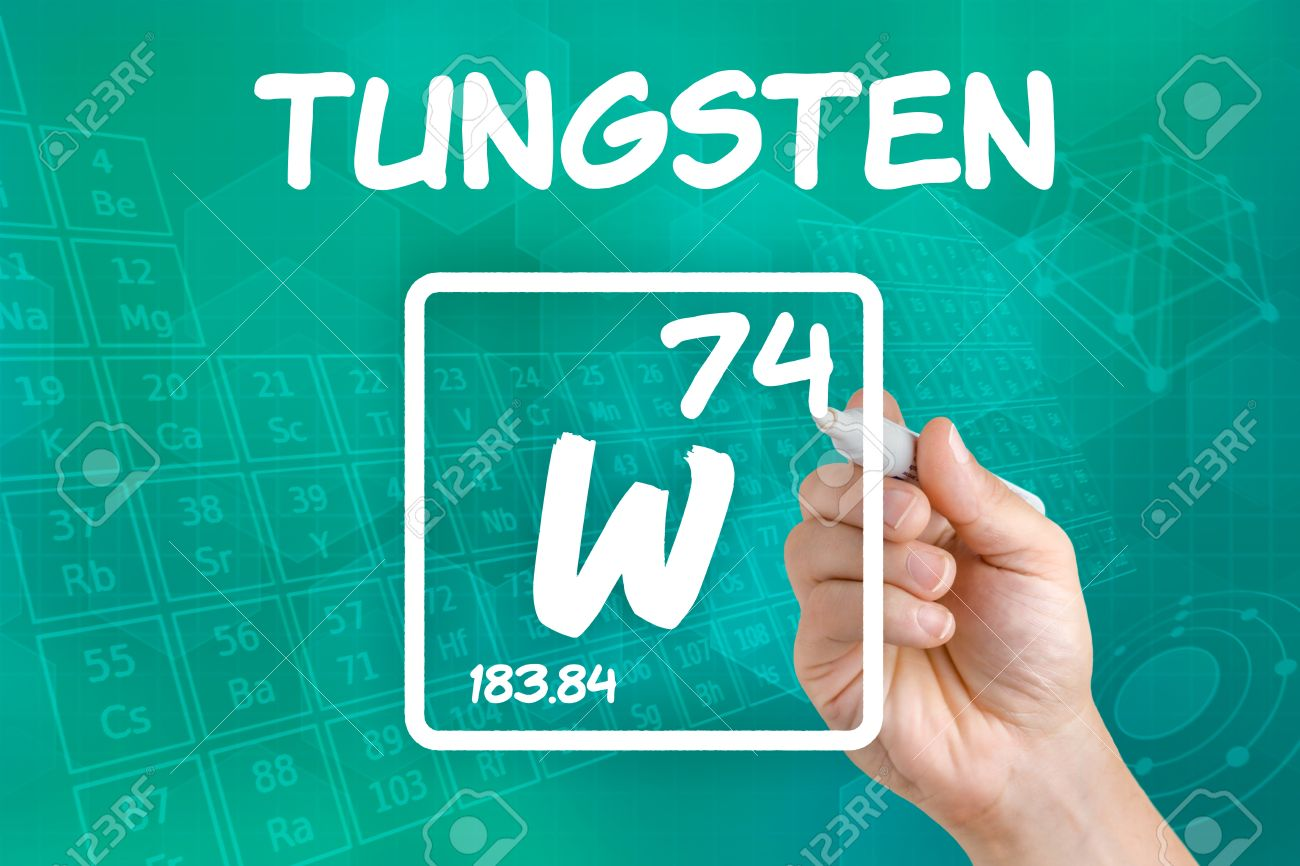 Symbol For The Chemical Element Tungsten Stock Photo Picture And