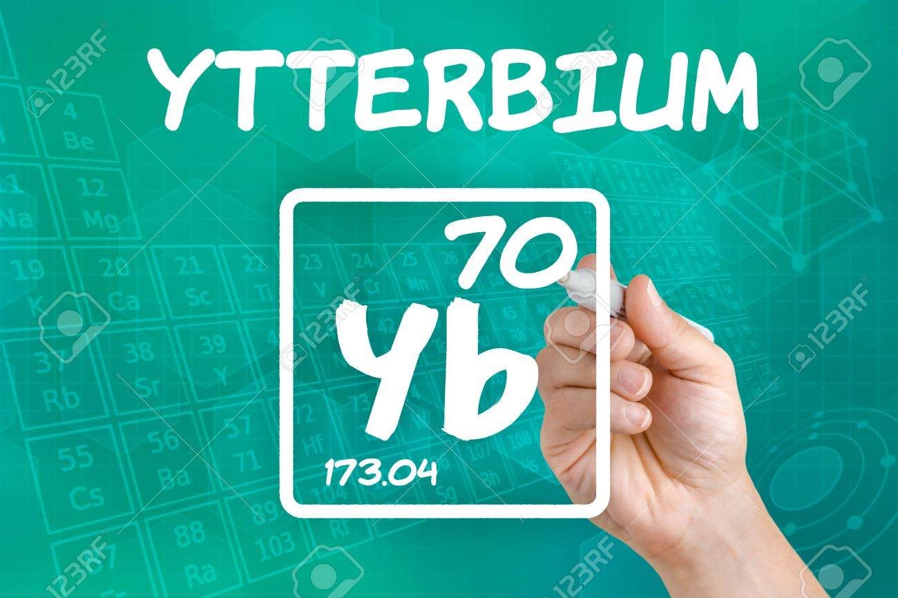 Symbol For The Chemical Element Ytterbium Stock Photo Picture And
