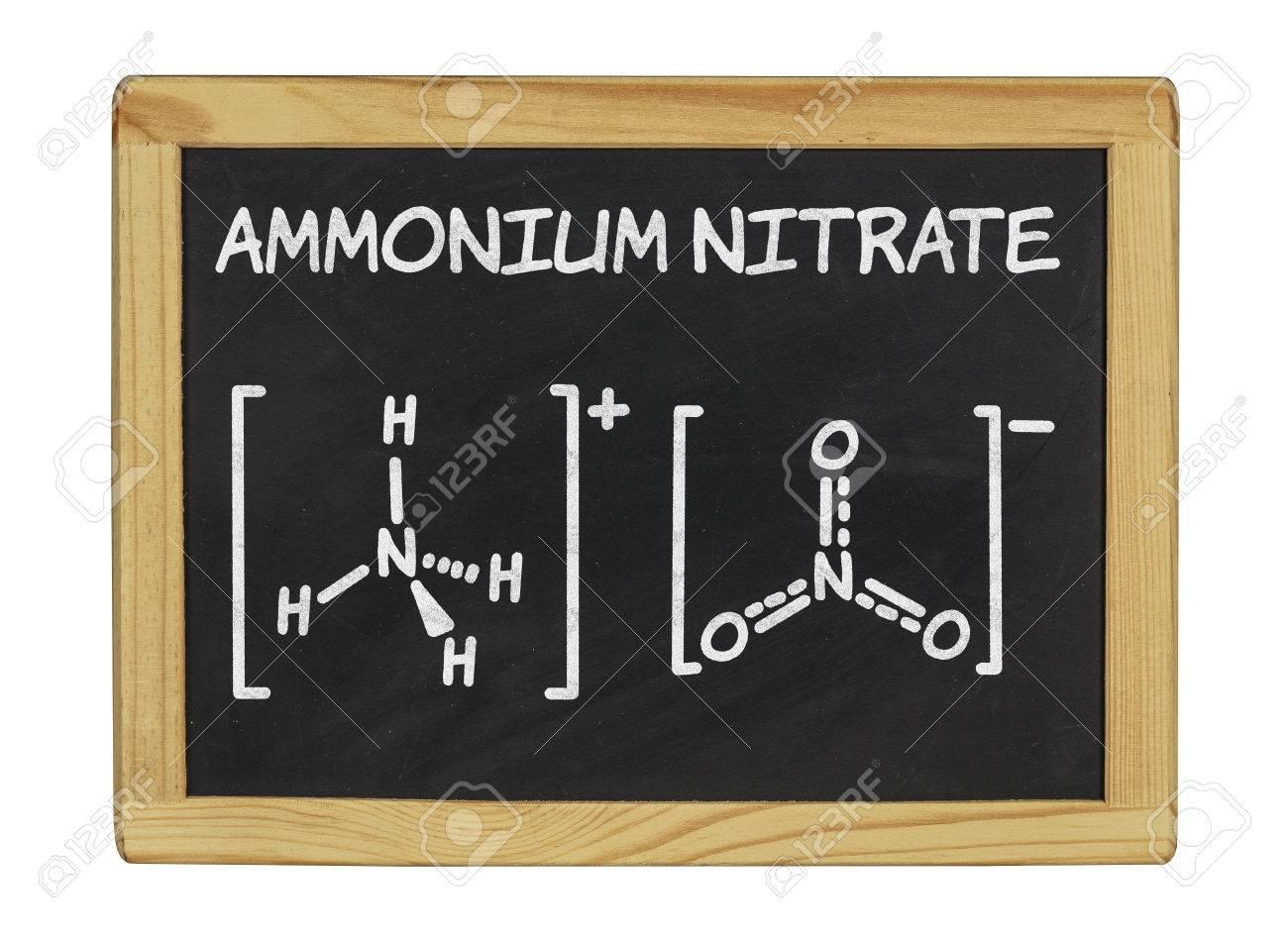 chemical formula of ammonium nitrate Stock Photo - 25298622