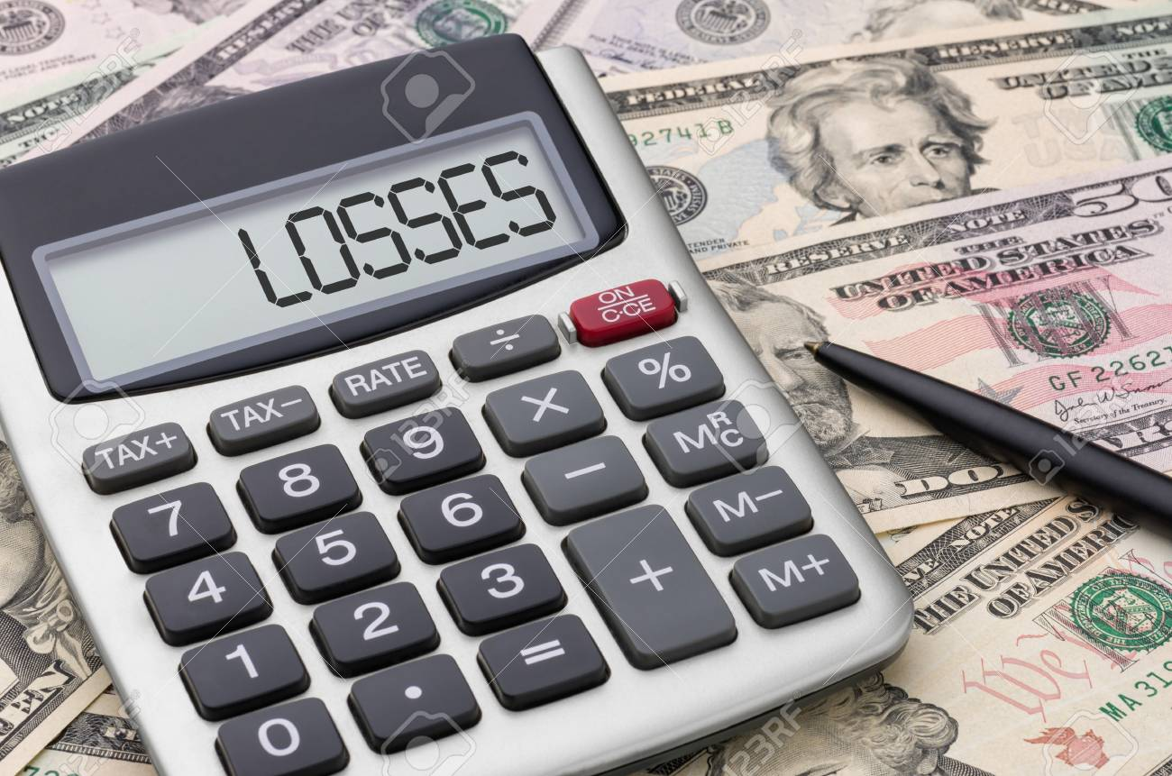 Calculator with money - Losses - 36432226