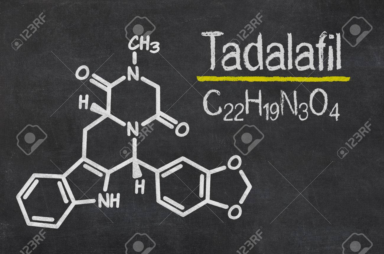 Blackboard With The Chemical Formula Of Tadalafil Stock Photo, Picture And  Royalty Free Image. Image 39386907.