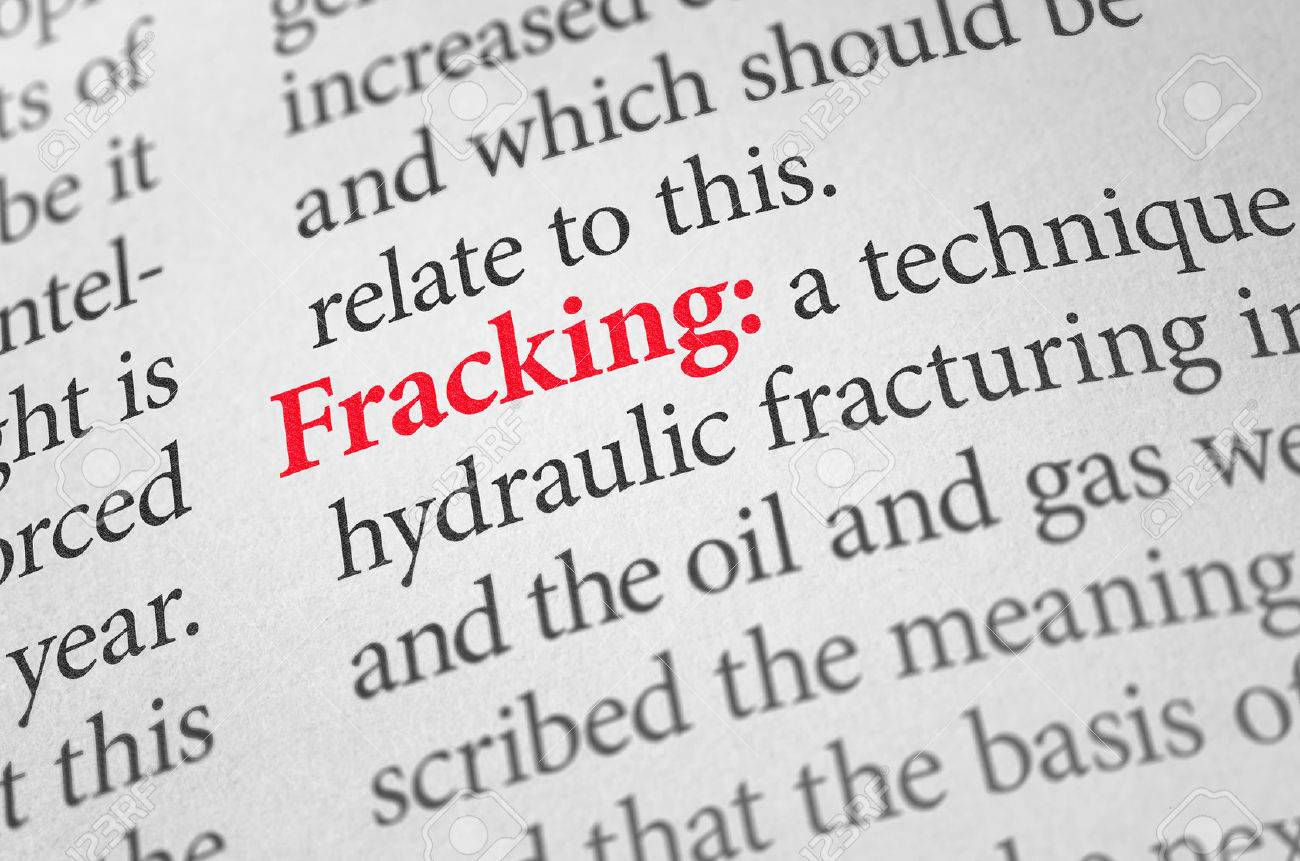 definition of the word fracking in a dictionary stock photo, picture