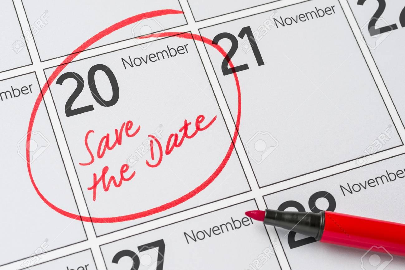 Calendrier 20.Enregistrer La Date Ecrite Dans Un Calendrier 20 Novembre
