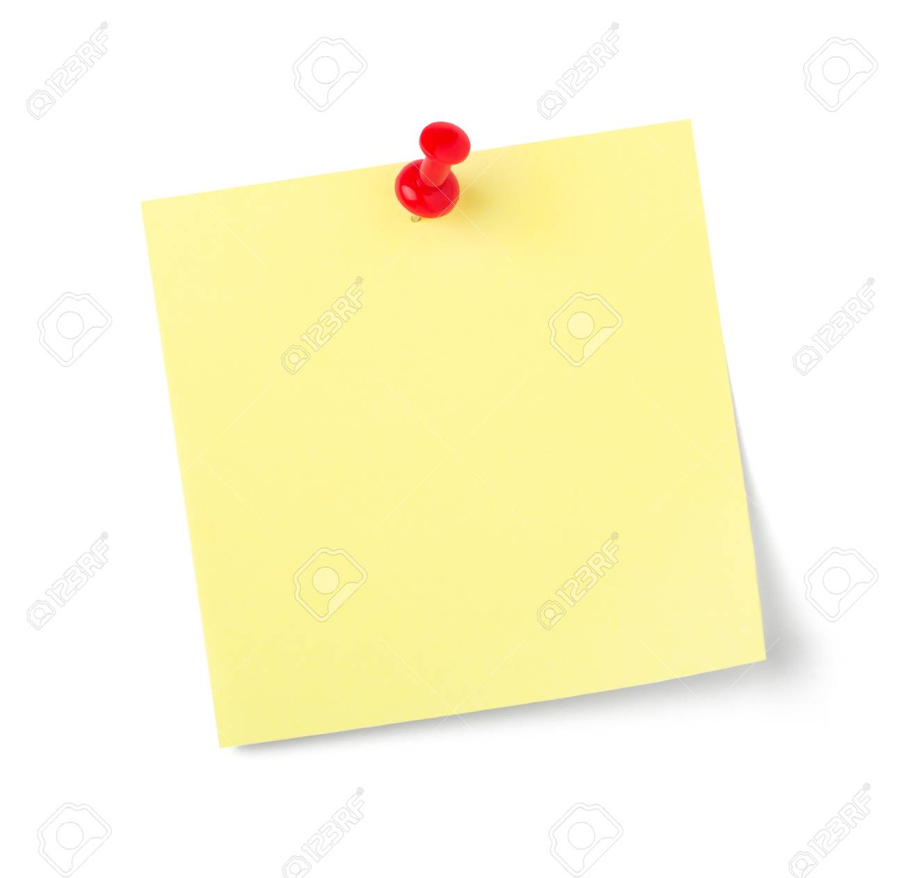 A sticky note with copy space on a white background - 122084428