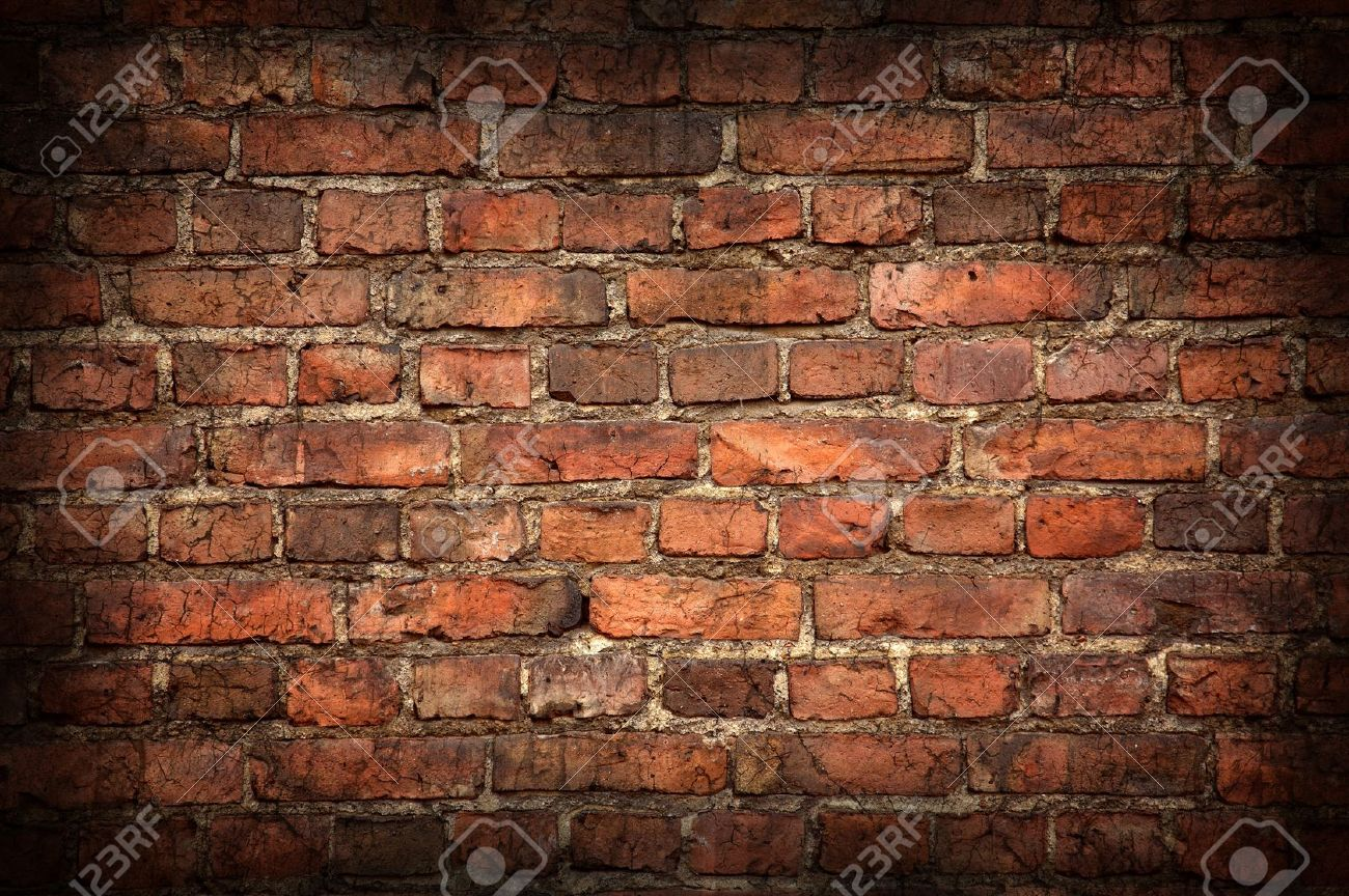 Old brick wall texture with shadow Stock Photo - 8749030