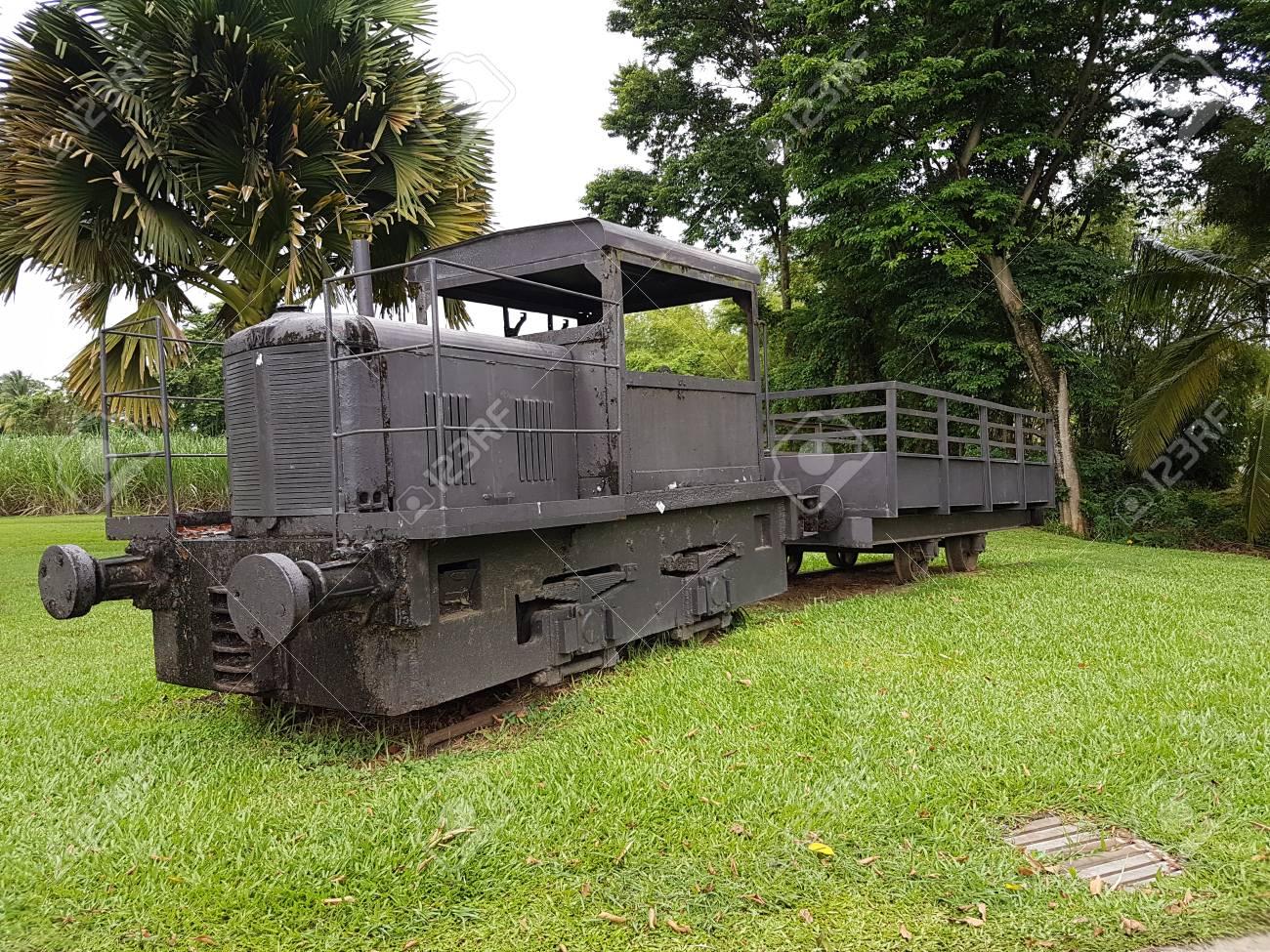 old train caraibes sugar cane rum - 97637439