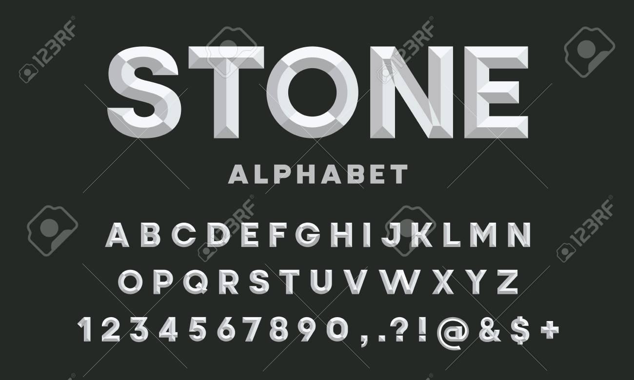 chisel style alphabet design - 116917479